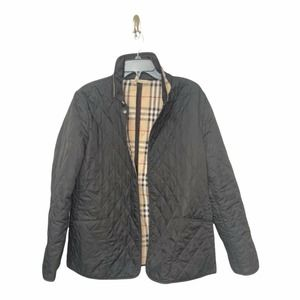 Burberry Black Quilted Women's Jacket Large